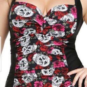 Torrid Rose Skull Swim Suit